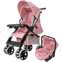 Carrinho De Bebê Com Bebê Conforto - Tutti Baby Thor 0 A 15Kg - Unissex-Rosa