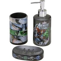 Jogo Para Banheiro Vingadoresâ®- Cinza Escuro & Verdemabruk