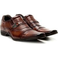 Sapato Social Couro Conforto Rafarillo New Vegas Masculino - Masculino-Caramelo