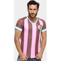 Camisa Corinthian-Casuals Réplica Masculina - Masculino-Rosa+Marrom