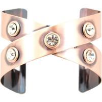 Bracelete Crisfael Acessórios Metal Cobre