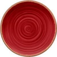 Prato Para Jantar Rústico- Vermelho Escuro & Marrom-Hudson
