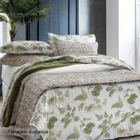 Conjunto De Colcha Tropical King Size- Branco & Verde