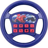 Volante Musical Spiderman®- Azul & Vermelho- Ø19X3,5Etilux