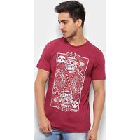 ca5eb4f44 Netshoes; Camiseta Silk Rukes King Of Skull Masculina - Masculino-Vinho