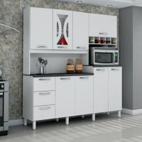 Cozinha Compacta Criative 8 Pt 3 Gv Branco Brilho
