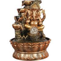 Fonte De Água Ganesh Em Resina 38Cm
