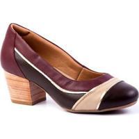 Scarpins Feminino 289 Em Couro Doctor Shoes - Feminino-Vinho