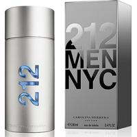 Perfume Masculino 212 Nyc Men Carolina Herrera Eau De Toilette 200Ml - Masculino-Incolor