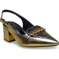 Sapato Fem Ramarim 17-94103 Prata Velha