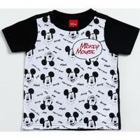 Camiseta Infantil Mickey Manga Curta Disney