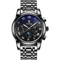 Relógio Tevise 9005 Masculino Automático Pulseira Aço - Preto