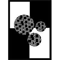Quadro Com Moldura Black & White Preto E Branco (45X32)