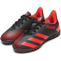 Chuteira Adidas Performance Menino Pretador 20 4 Tf Jr Preta/Vermelha