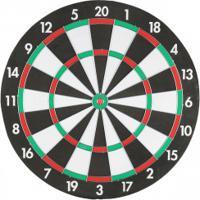 Jogo De Dardos Western Tabuleiro Dupla Face Com 6 Dardos - Preto/Vermelho
