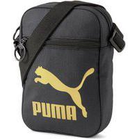 Bolsa Puma Originals Urban Compact 078008-01, Cor: Preto/Dourado, Tamanho: Unico