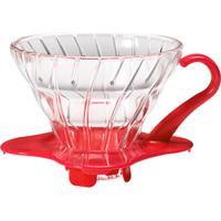 Coador De Café Em Vidro Vermelho Hario V60-01
