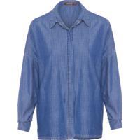 Camisa Feminina Jeans Basic - Azul