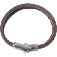 Bracelete Masculino Huerta Silver - Marrom
