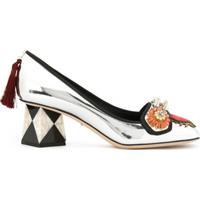 d190c7889 Farfetch; Dolce & Gabbana Sapato 'Jackie' De Couro - Metálico
