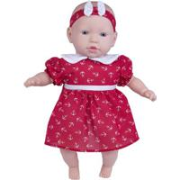 Boneca - 44Cm - My Sweet Baby - Vestido Vermelho Com Âncora - Cotiplás