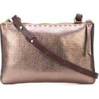 Henry Beguelin Metallic Crossbody Bag - Rose Gold