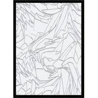 Quadro Com Moldura Mármore Branco E Cinza (33X24)