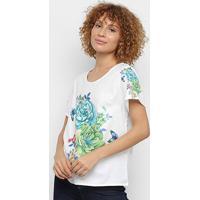 Blusa Allexia Básica Floral Feminina - Feminino-Colorido