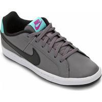 Tênis Infantil Couro Nike Court Royale Masculino - Masculino-Preto+Lilás
