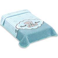 Cobertor Exclusive Com Estampa De Ursinho Azul