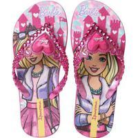 Chinelo Infantil Ipanema Barbie Coração Rosa
