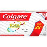Creme Dental Colgate Total 12 Clean Mint Com 2 Unidades De 90G Cada Com 25% De Desconto Na 2º Unidade