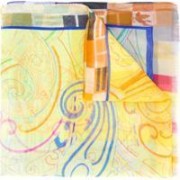 Etro Lenço De Seda Com Estampa Paisley - Amarelo