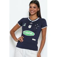 Camisa Cruzeiro Vôlei Of.1 2016 - Azul Marinho & Brancaumbro