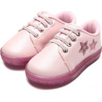 Tênis Pimpolho Infantil Estrelas Rosa
