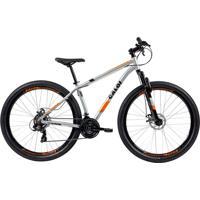 Bicicleta Mtb Caloi Two Niner Alloy Aro 29 - Susp Diant - 21 Vel Prata