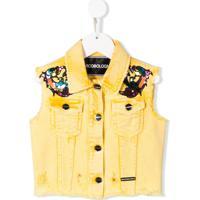 Marco Bologna Kids Jaqueta Jeans Com Aplicações - Amarelo