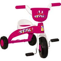 Triciclo Infantil Branco E Rosa Styll