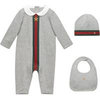 Gucci Kids Conjunto 3 Peças Para Bebê Com Estampa - Cinza