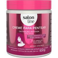 Creme Para Pentear Definicao Intensa Salon Line 500G - Unissex-Incolor