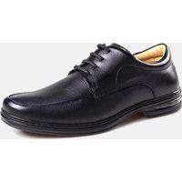 Sapato Rafarillo Amortecedor Conforto Com Cadarço Couro Preto