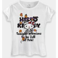 Camiseta Bandup! Hello Kitty Halloween Tonight Promises - Feminino-Branco