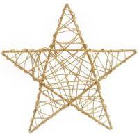 Estrela Rattan Decoraçáo Natal 30Cm Dourado