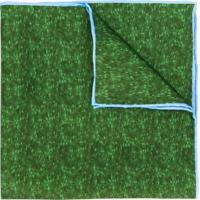 Kiton Echarpe Com Padronagem - Verde