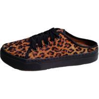 Tênis Open Mule Animal Print Comitiva Boots Leopardo