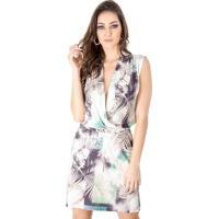 Occhi Azzurri  Vestido Cache Coeur Estampado Calvin Klein 6602552c45