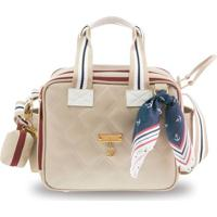 Bolsa Sacola Térmica Organizadora - 28X25X18 Cm - Coleção Navy - Bege - Masterbag