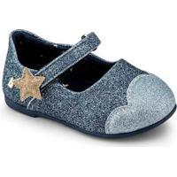 Sapatilha Infantil Bibi Anjos Mini Feminino Brilho Azul - 1072263 - Feminino