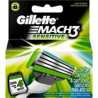 Carga Gillette Mach3 Sensitive C/ 4 Unidades