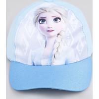 Boné Infantil Carnaval Aba Curva Elsa Frozen Azul
